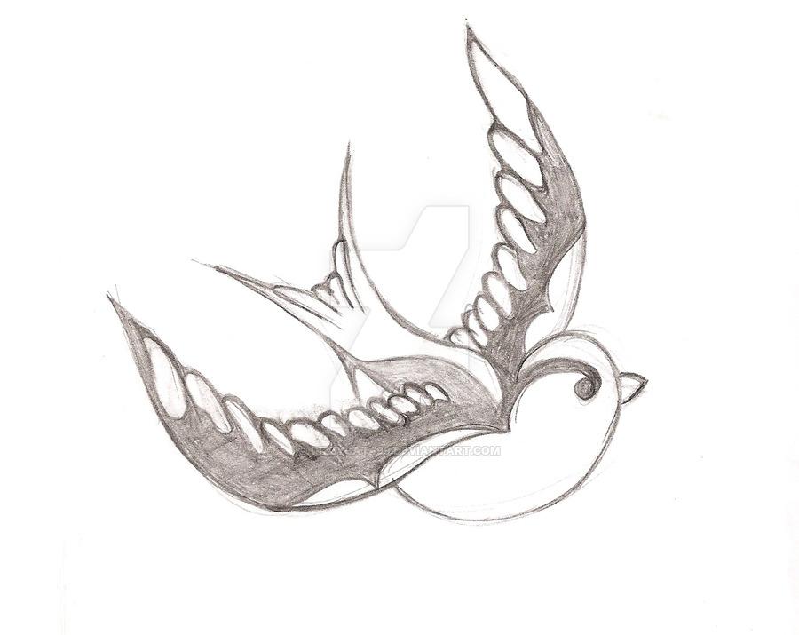 900x715 Sparrow Tattoo By Dizzycat499