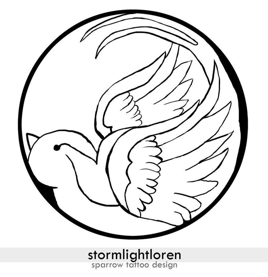 879x908 Sparrow Tattoo By Stormlightloren