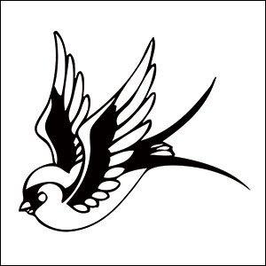 300x300 Sparrow Temporary Tattoo Beauty