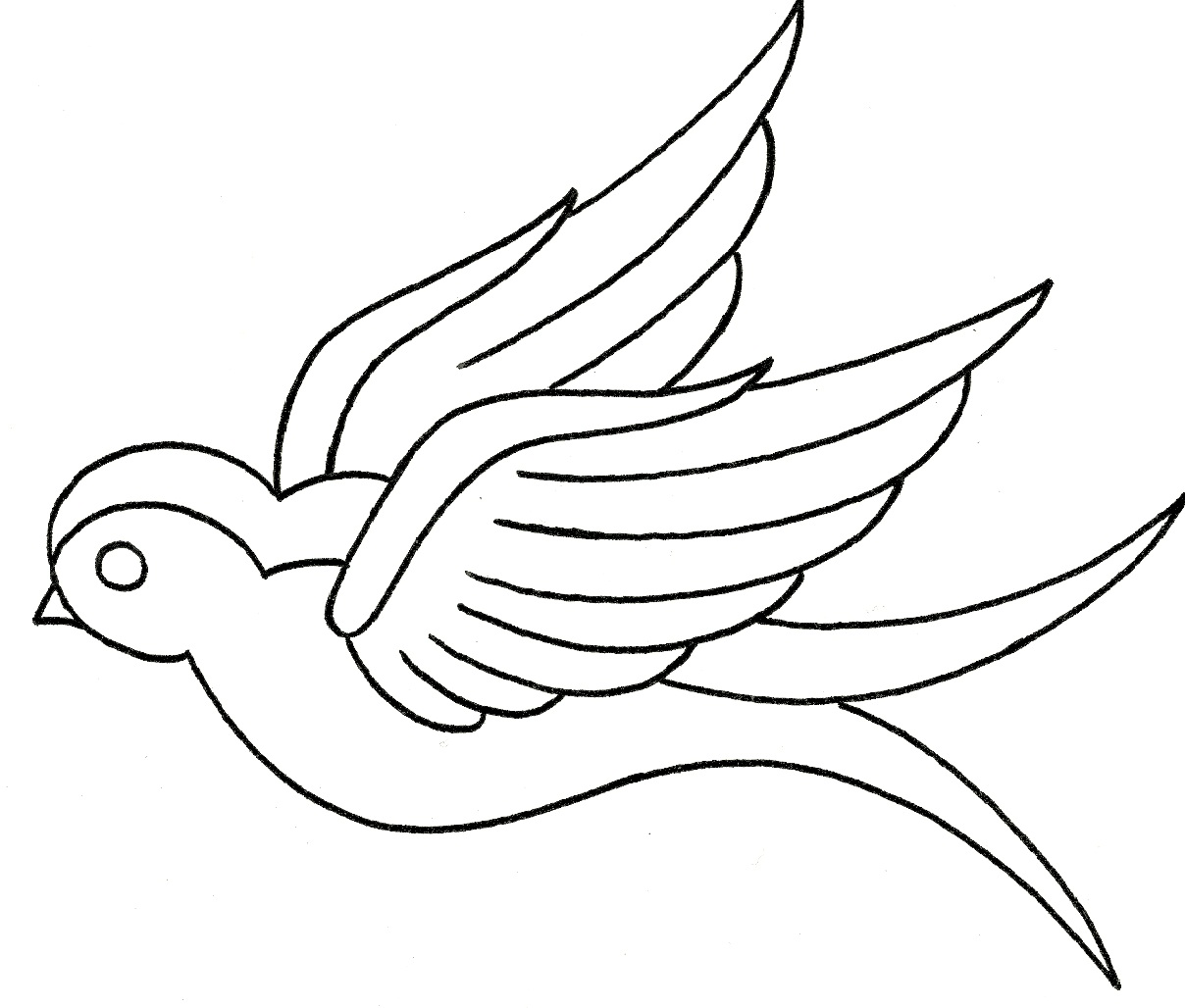 Sparrow Flying Drawing at GetDrawings.com | Free for ...
