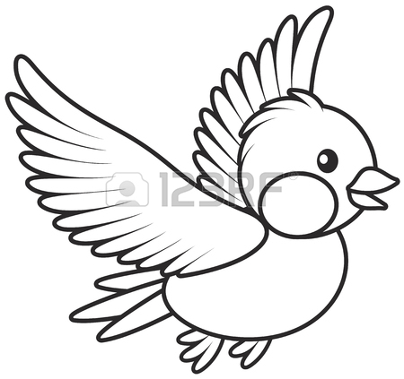 450x423 Small Bird Flying Royalty Free Cliparts, Vectors, And Stock