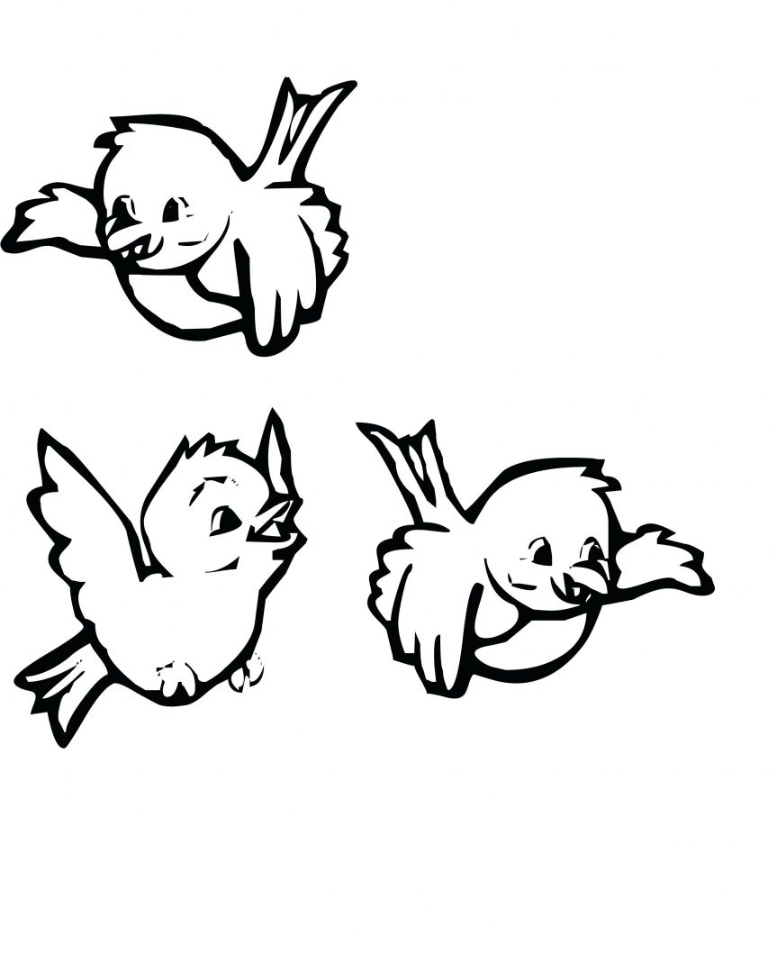 863x1079 Baby Sparrow Birds Coloring Pages Bird Robin Exotic Free Printable