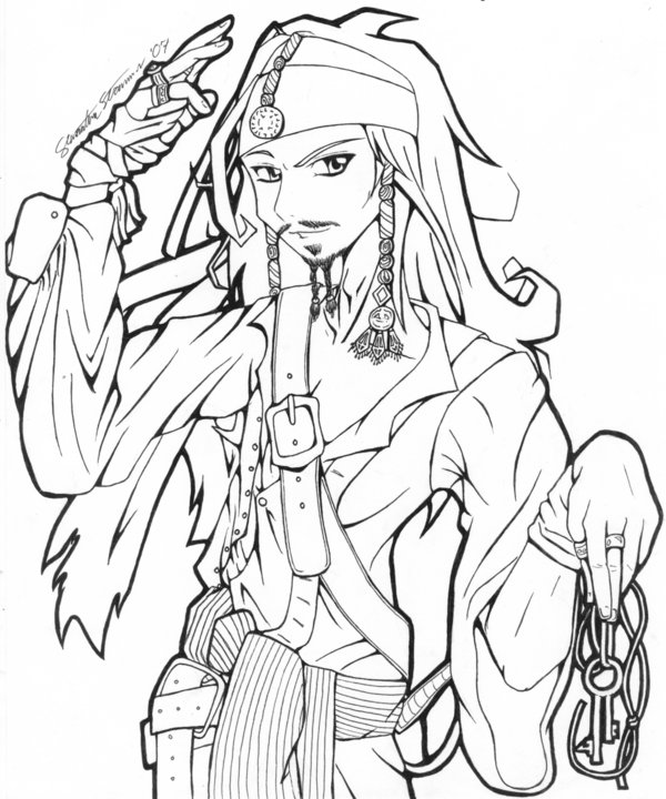 600x720 Capitan Jack Sparrow By Aiya Chan