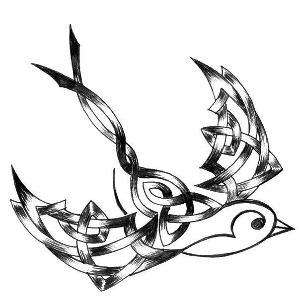 610x610 Sparrow Tattoo Design