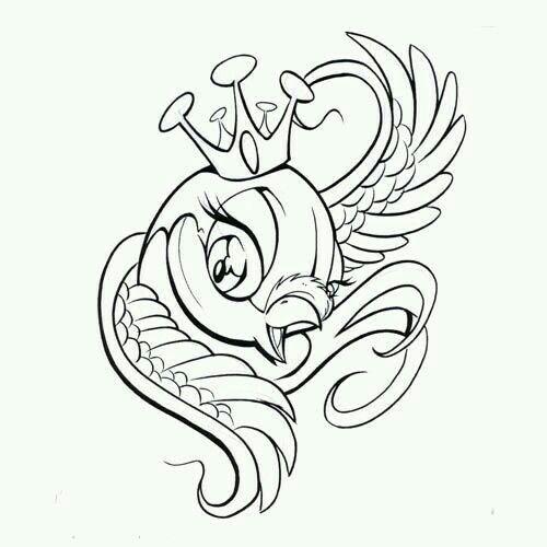 500x500 37 Best New School Sparrow Tattoo Designs Images