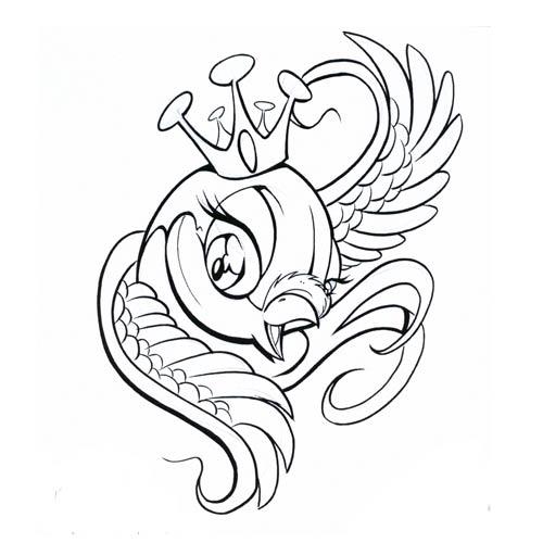 500x500 New School Bird Tattoos Sparrow Tattoos Ideas Pictures
