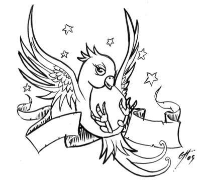 400x366 Tattoo designs Sparrow Tattoos Ideas Sparrow Bird Tattoos