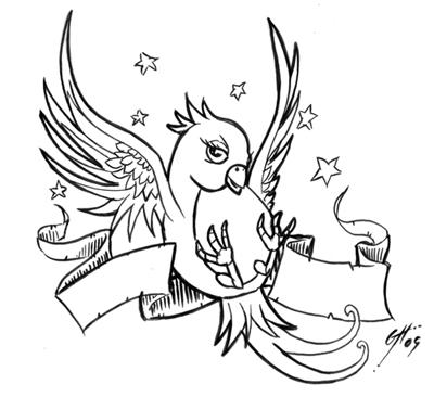 400x366 Birds Tattoos For You Sparrow Bird Tattoos Designs