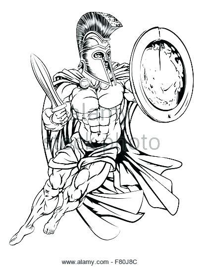 410x540 Spartan Coloring Pages Spartan Coloring Pagesn Illustration