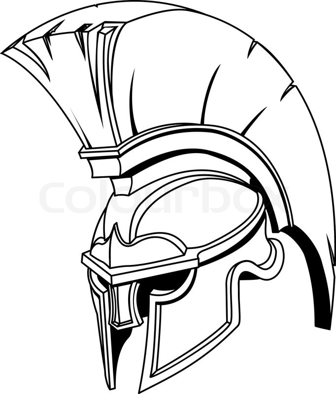 682x800 An Illustration Of Spartan Roman Greek Trojan Or Gladiator Helmet
