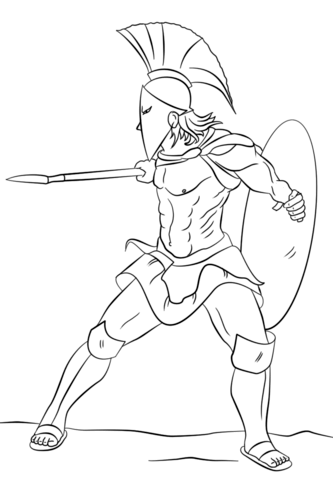333x480 Spartan Warrior Coloring Page Coloring Pages For The Budding