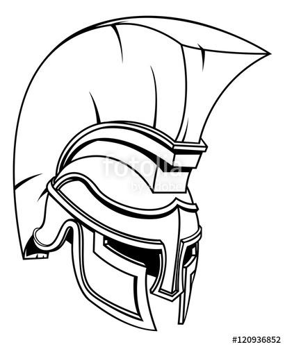 410x500 Trojan Or Spartan Gladiator Warrior Helmet Stock Image