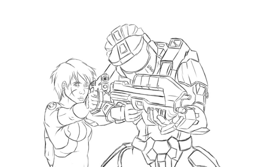 900x566 Halo Gold Chronicles Sketch By Spartan 029