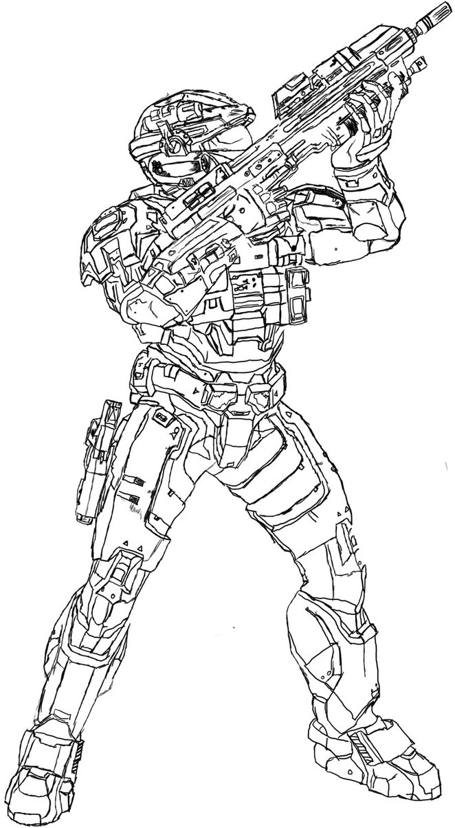 662x1205 Halo Reach Spartan By Dewd2009