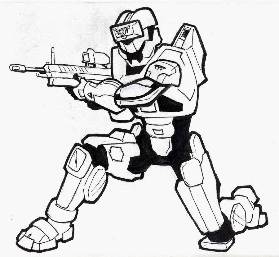 900x827 Halo Spartan Commission 2