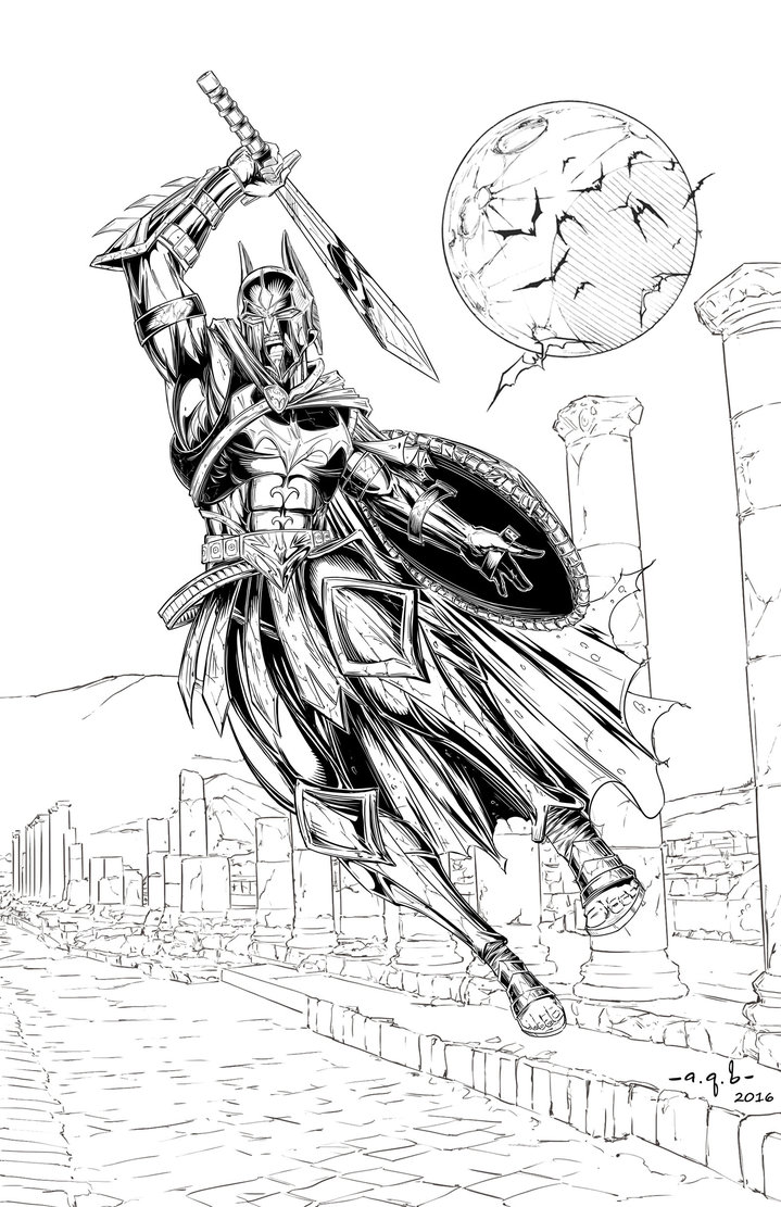 719x1111 Spartan Batman By Aqb Draw
