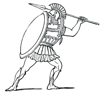 400x369 Spartan Coloring Pages Spartan Coloring Pages Pin Drawn Soldiers