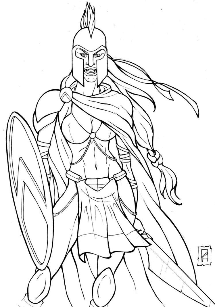 748x1068 Spartan Girl By Antunesrj