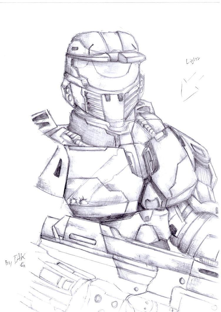752x1063 Spartan Ii Sketch By Ims360