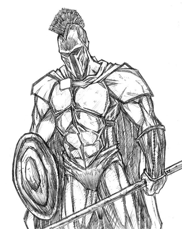 632x797 Spartan Sketch By Ribs7