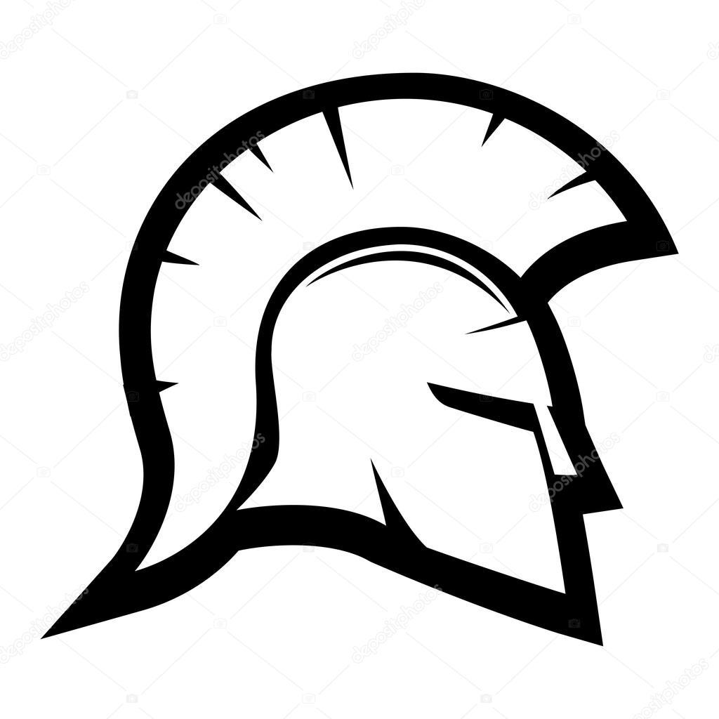 1024x1024 Spartan Helmet Sign. Stock Vector Taronin