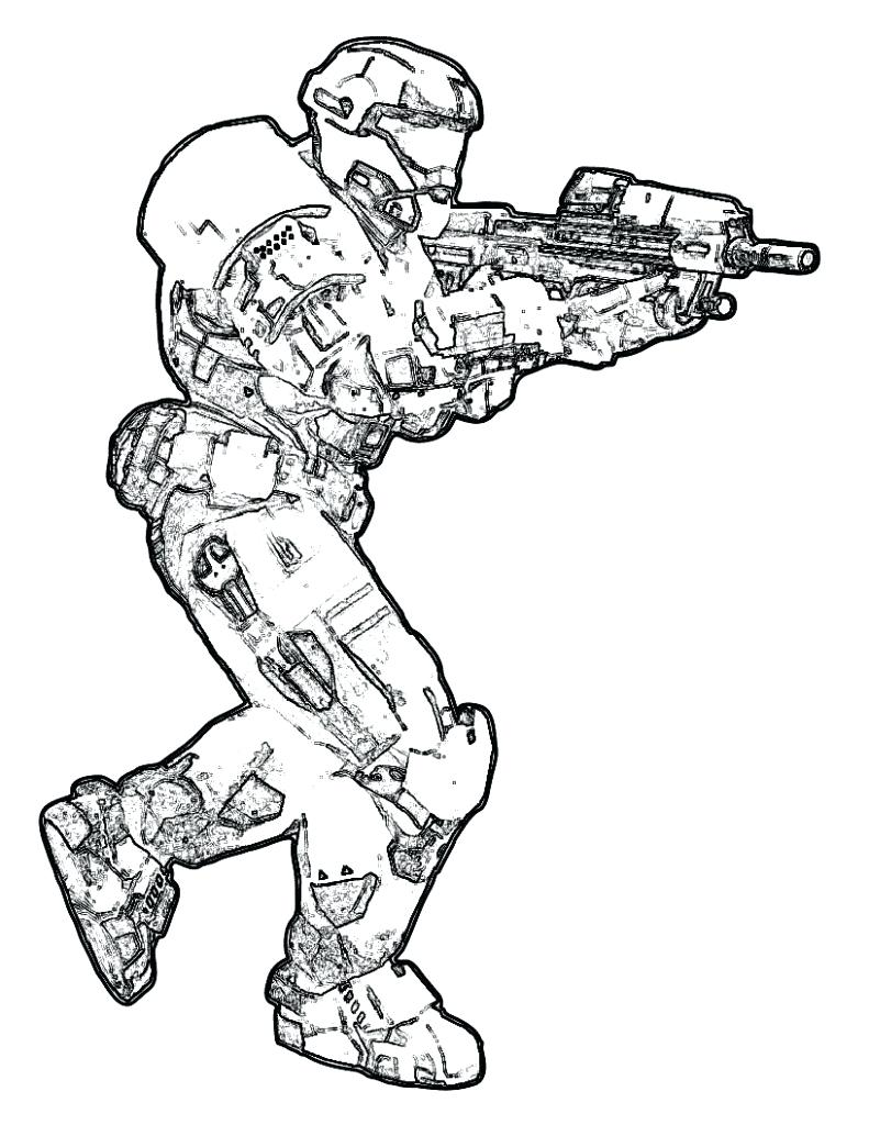 791x1024 Coloring Halo Spartan Coloring Pages