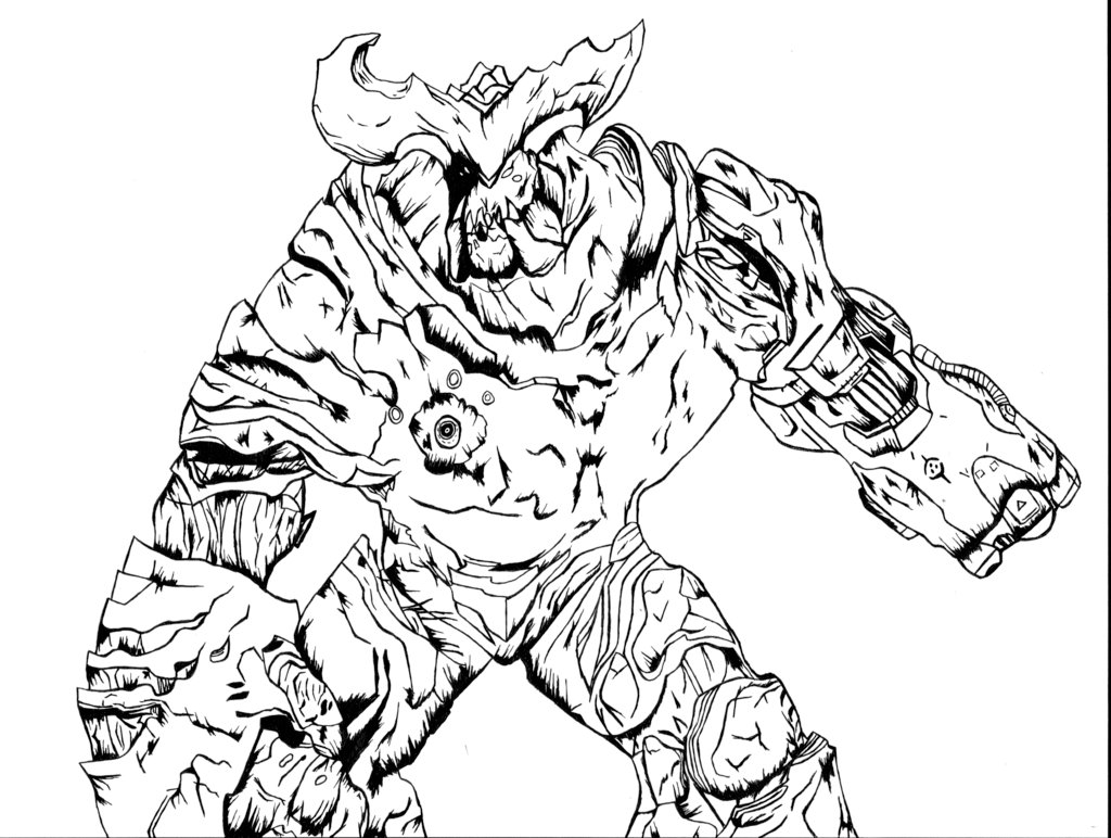 1024x772 Cyberdemon Doom By The Silver Spartan