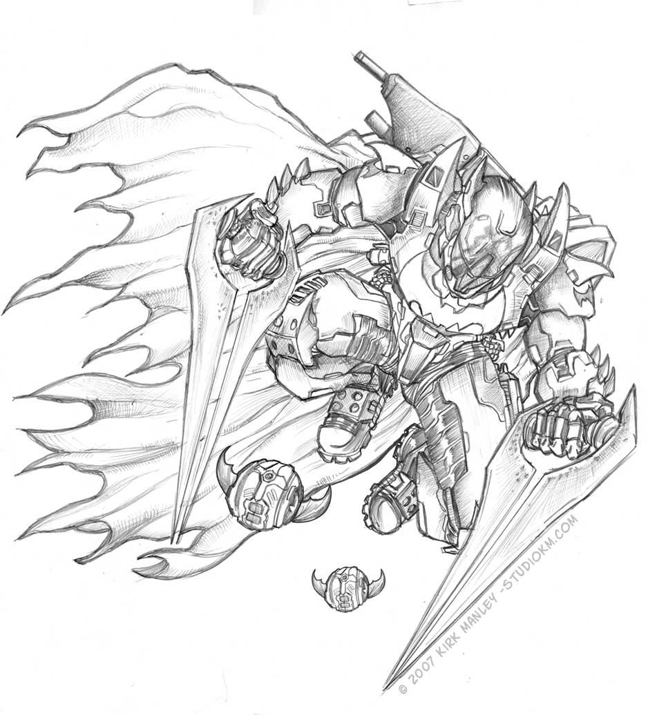 938x1036 Dark Knight Halo 3 Spartan
