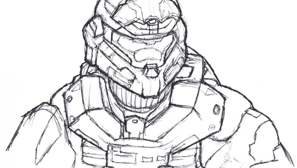 960x544 Download Halo Spartan Coloring Pages To Free Printable Adult Page