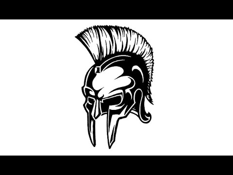480x360 Drawing Spartan Warrior Helmet
