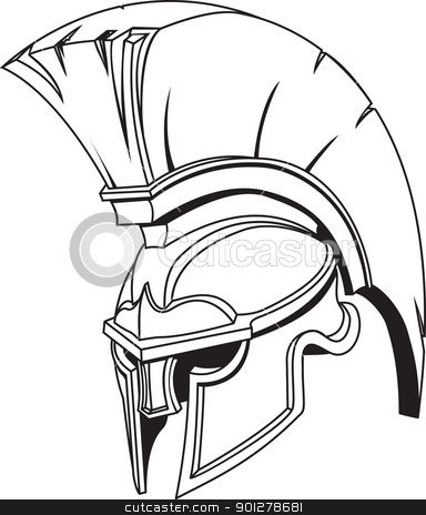 Spartan Helmet Drawing