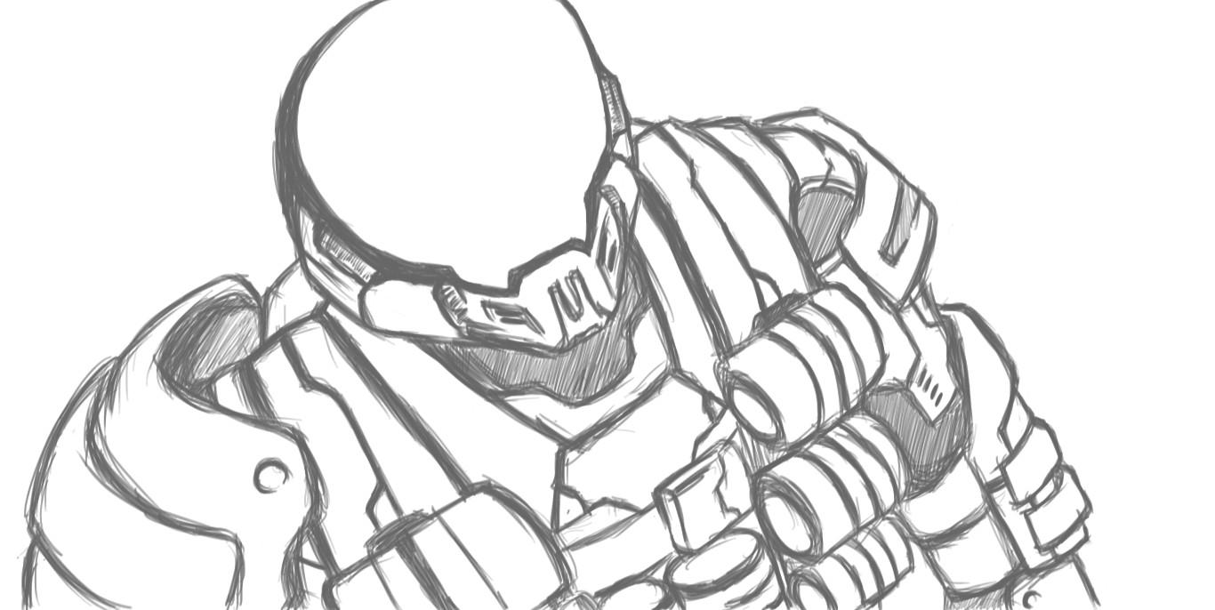 1366x686 Halo Spartan Armor Drawings