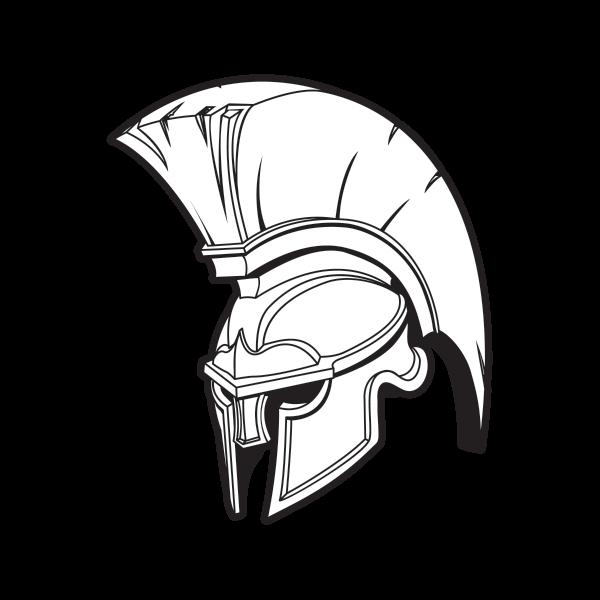 600x600 Printed Vinyl Spartan Roman Helmet Stickers Factory