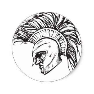 324x324 Spartan Helmet Stickers