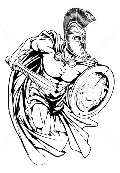 416x600 Spartan Warrior Vector Illustration Christos Georghiou (Krisdog