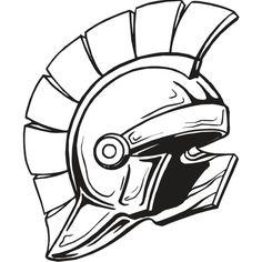 236x236 Spartan Helmet (Illustration Of An Ancient Greek Warrior Helmet