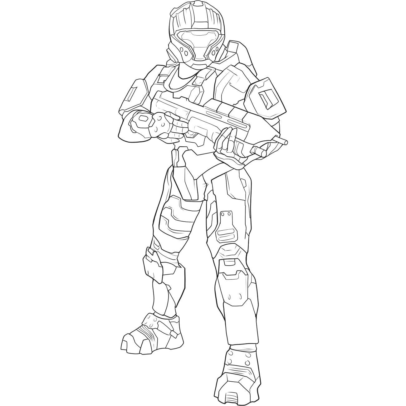 1301x1301 Halo Reach Female Coloring How To Draw Spartan Helmet