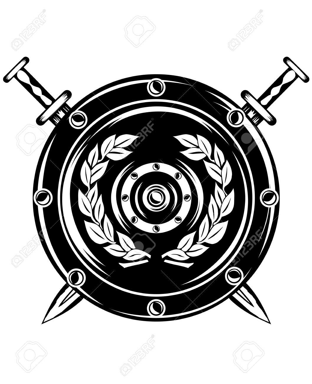 1057x1300 Shield Clipart Roman Gladiator