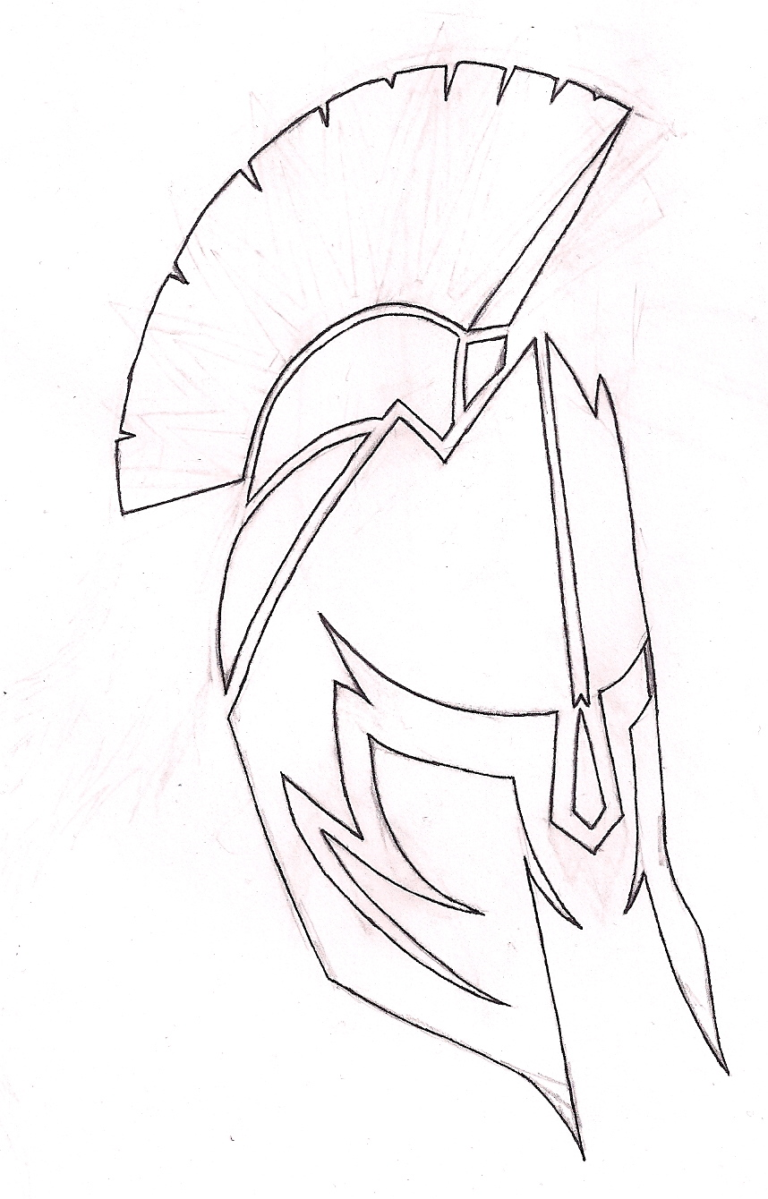 858x1340 Spartan Shield Drawing