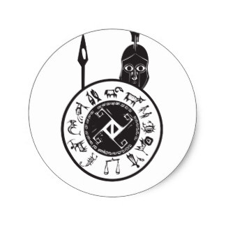 324x324 Spartan Shield Stickers Zazzle