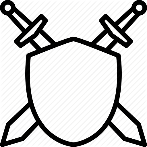 512x512 Sword And Shield Drawings