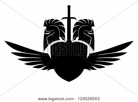 450x333 Vector Sign Spartan Helmet, Shield Vector Amp Photo Bigstock