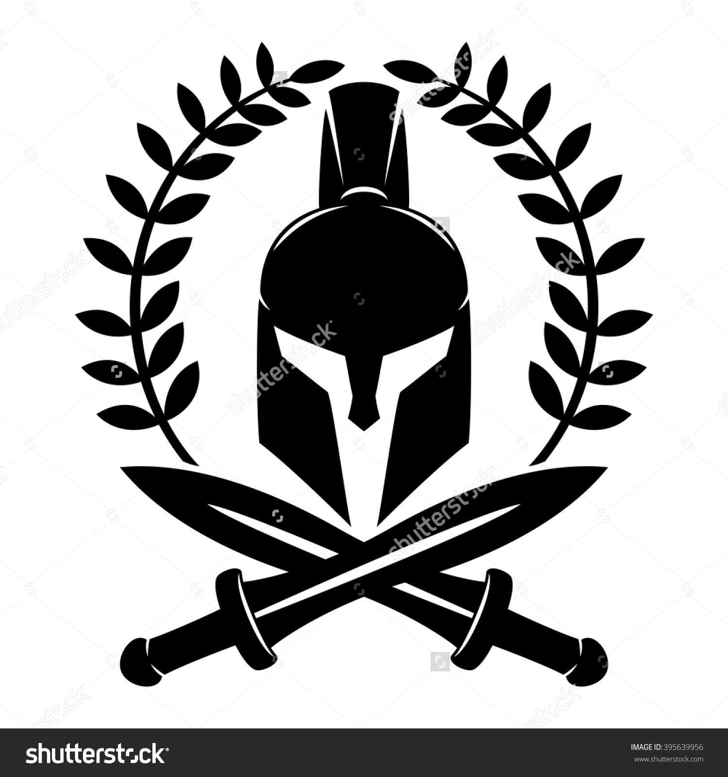 This is a photo of Revered Spartan Shield Drawing