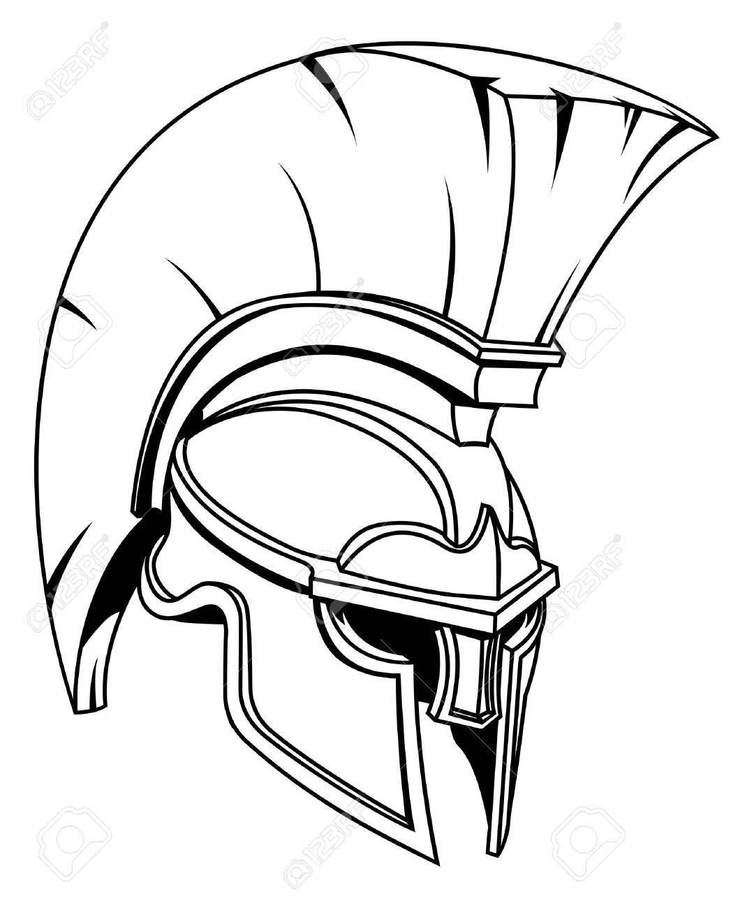 Spartan Warrior Drawing
