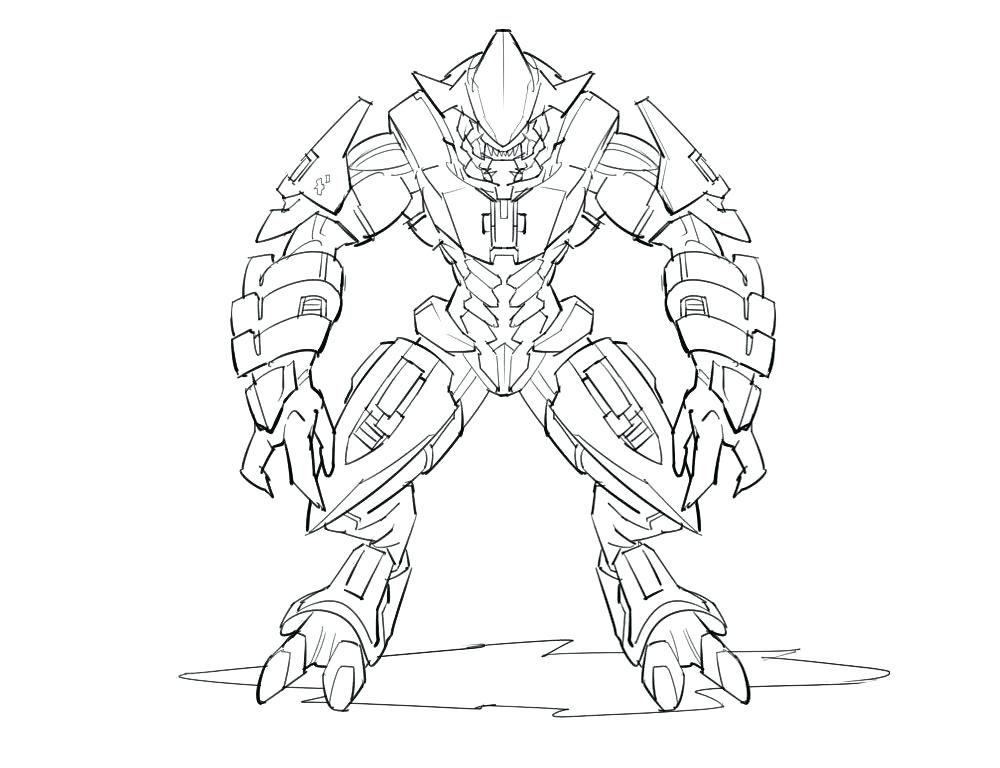 1000x768 Spartan Coloring Pages Appealing Master Chief Coloring Pages