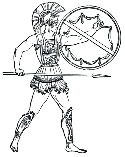 500x626 Spartan Coloring Pages Spartan Coloring Pagesn Illustration