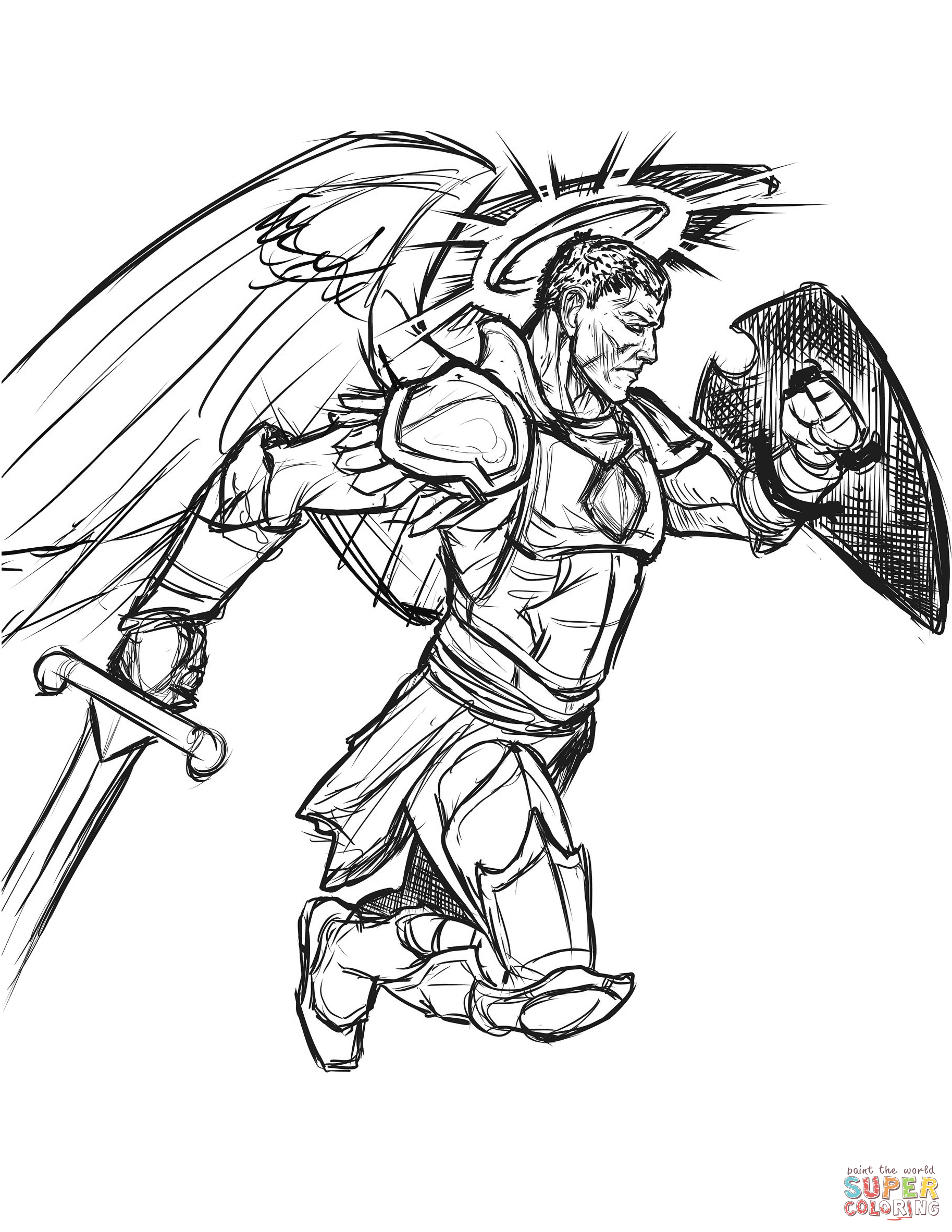 1827x2364 Spartan Warrior Coloring Page Free Printable Pages At Warriors
