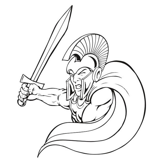640x640 Spartan Warrior Coloring Pages Coloring Page