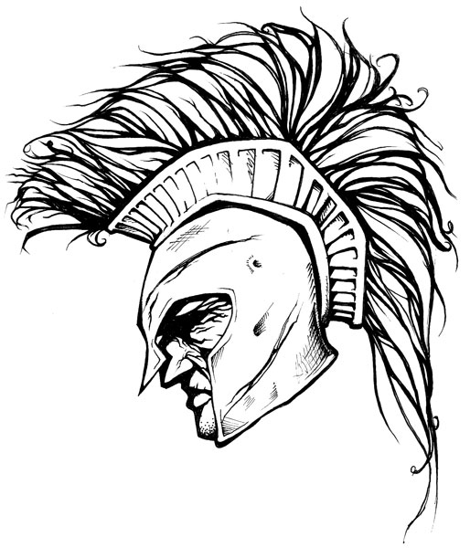 514x600 Spartan Warrior Helmet Tattoo In 2017 Real Photo, Pictures
