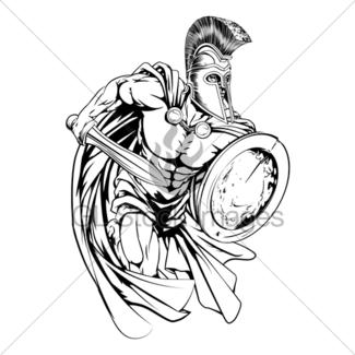 325x325 Spartan Warrior Mascot Gl Stock Images